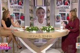 Katherine Heigl (Center) Interviewed On Today With Hoda Kotb (Left) & Jenna Bush Hager (Right)
